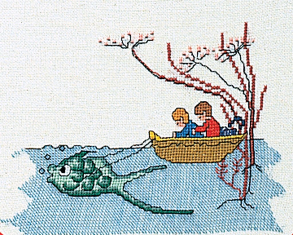 Boat with fish