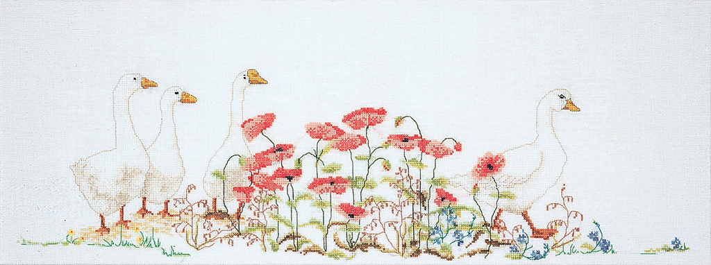 Poppies & Geese